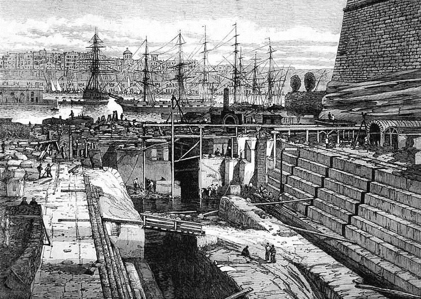-A-new-dock-for-Malta-Dockyard-inaugurated-in-October-1867-and-featured-in-the-London-Illustrated-News..