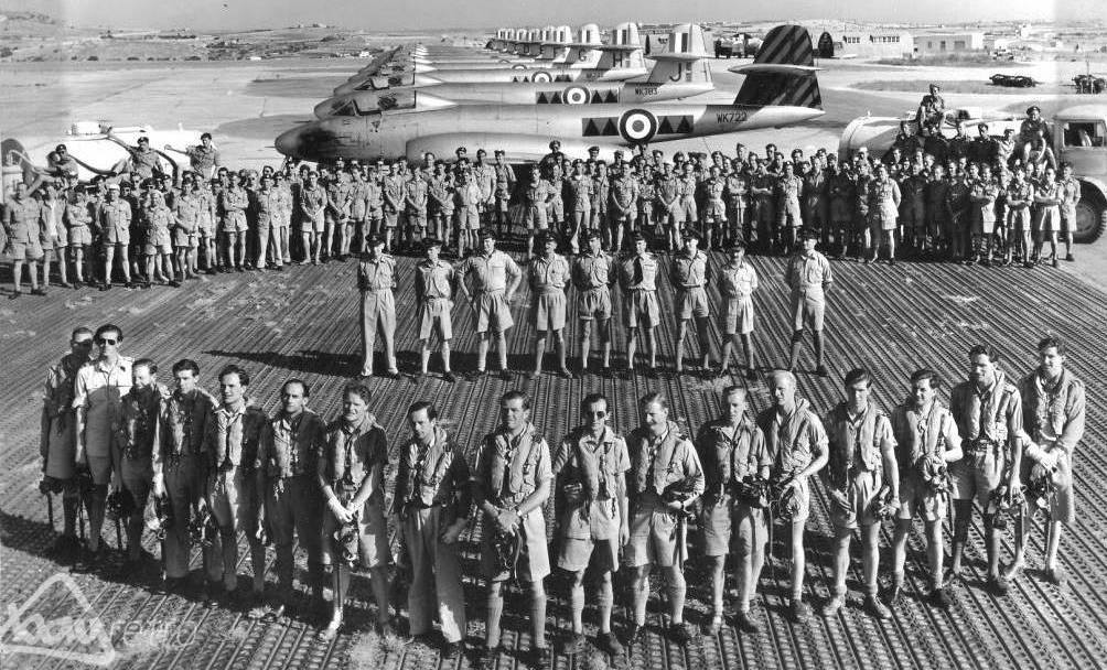 RAF 601 Squadron at RAF Ta' Qali where my father was later stationed between 1957 and 1959.