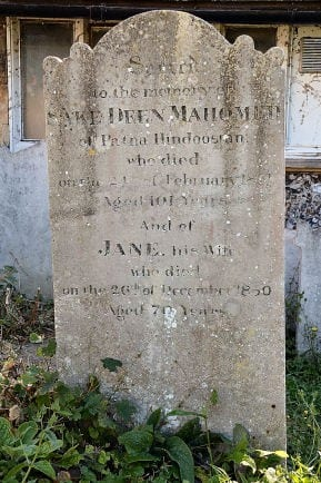 Mohomed headstone at St Nicholas' Chruch Brighton