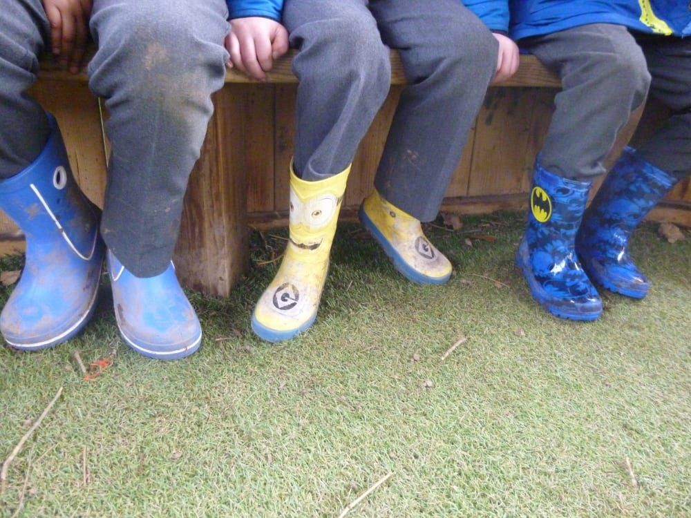 St Anne's in Willenhall - everyone so keen they always remember their wellies!