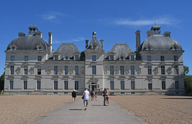 Main facade of Cheverny Castle