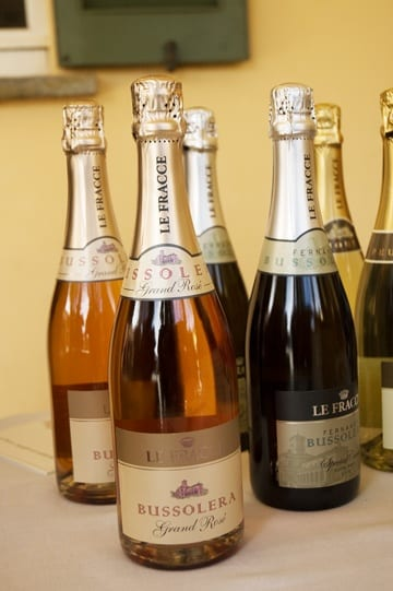 Rose and white sparkling wines by Le Fracce