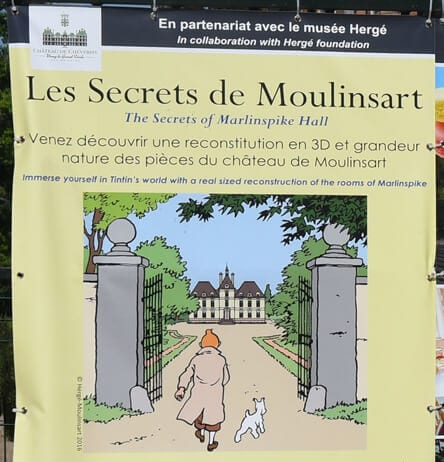 Tintin exhibition at Cheverny Castle