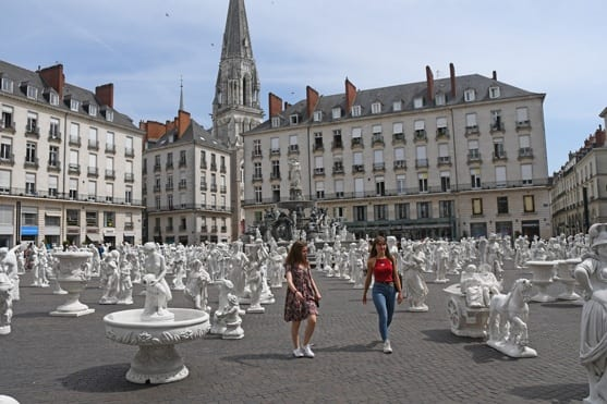 Open air art exhibition in Nantes