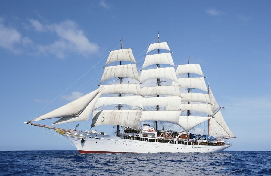 SeaCloud under sail