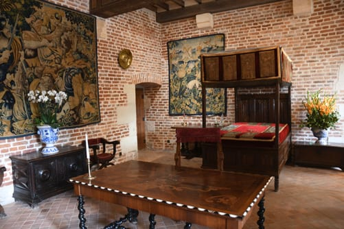 Leonardo da Vincis bedroom at Clos Lucé