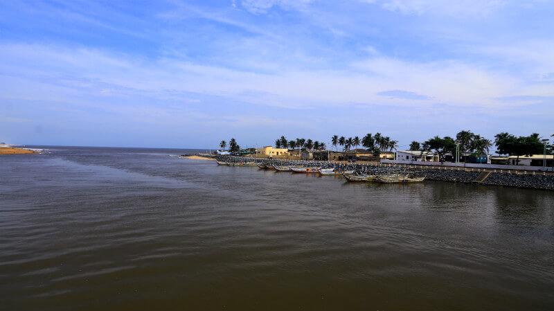 The Hotel de Ville where Lake Togo meets the sea Aneho