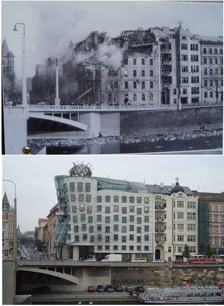 Comparison of Dancing House site in and