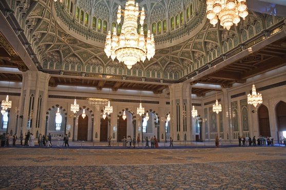 The prayer room of the Grand Mosque