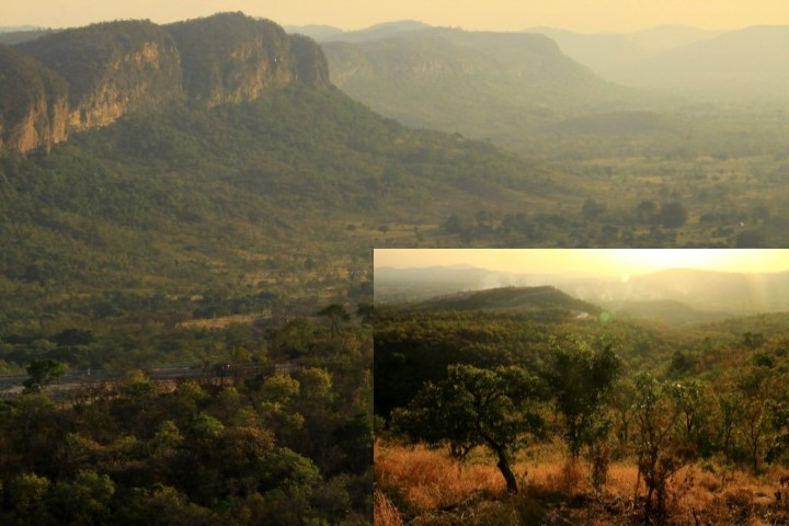 The escarpment which forms part of the Atakora range