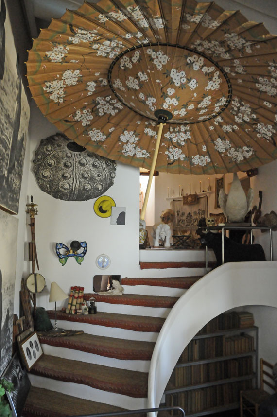 Interior of Portlligat Dalis house