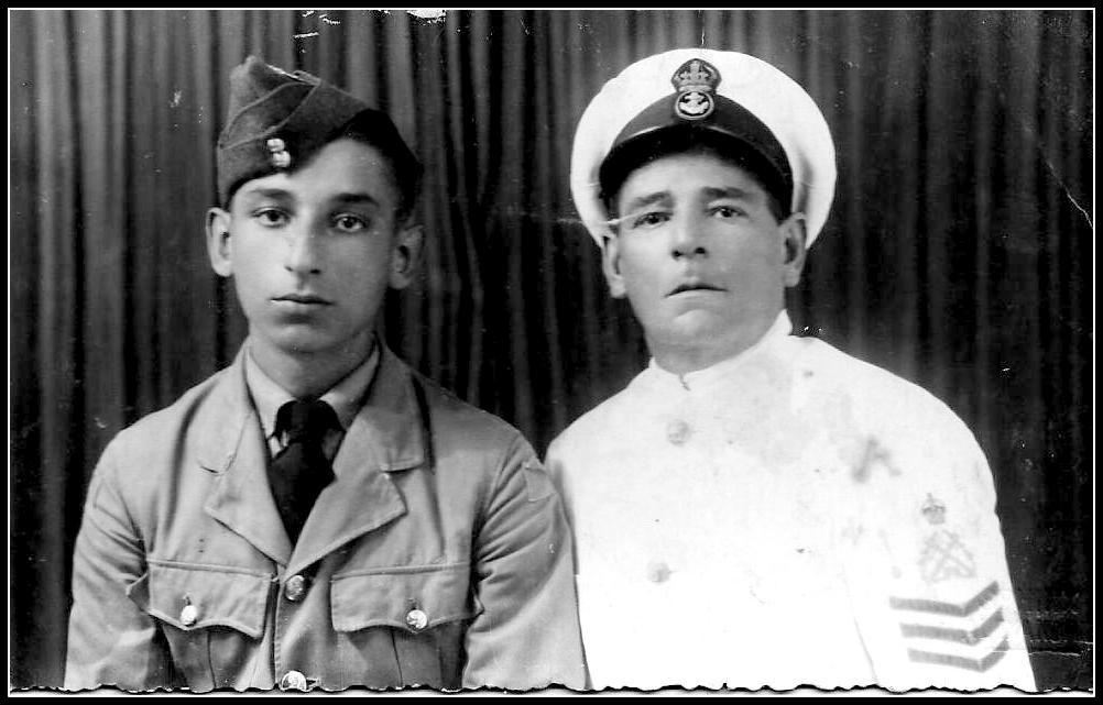 MalDia My late father Frank left who was in the RAF with his dad Gianni RN Chief PO when they met in Alexandria in Egypt during the height of WWII Both looked so sad and pensive