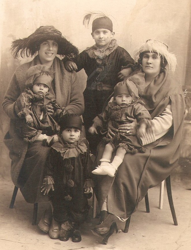 MalDia Carnival my mother Pauline seated on her mother Giovanna left with her brothers Guzi back and Johnny and her sister Annie seated on a great aunt