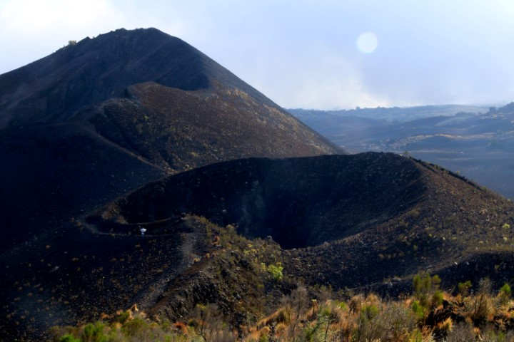 The two volcanic craters of
