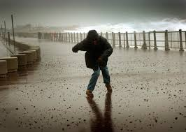 storm hit seafront