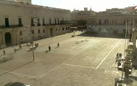 MalDia AS WE ARE Vallettas main St Georges Square normally packed with people now totally desolate