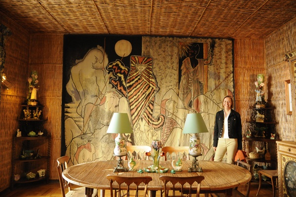 Cocteau tapestry and works in Villa Santo Sospir