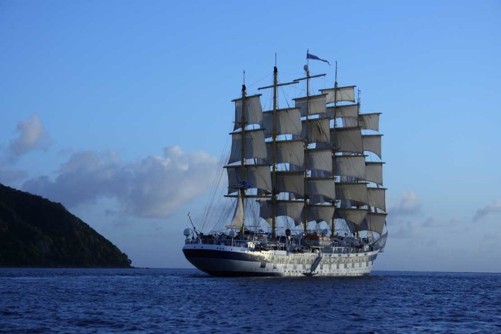 Royal Clipper off Martinique