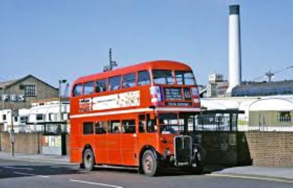 red bus to Leatherhead garage