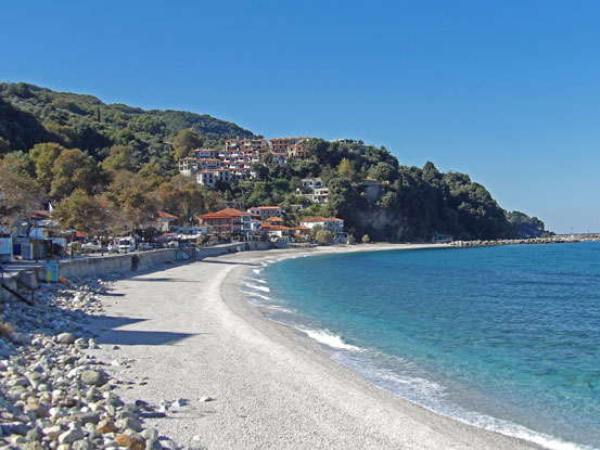 Crystal clear waters of Pelion beaches