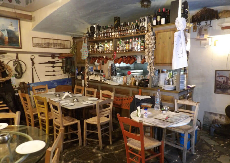 Typical Greek taverna of Spetses