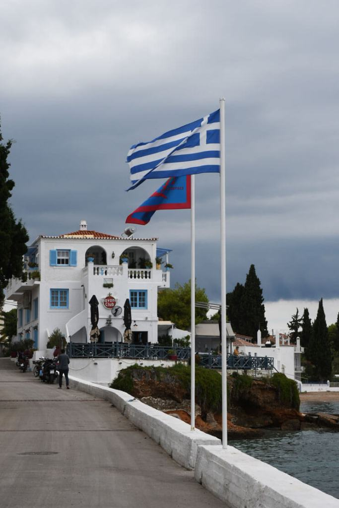 Greek and Spetses flags