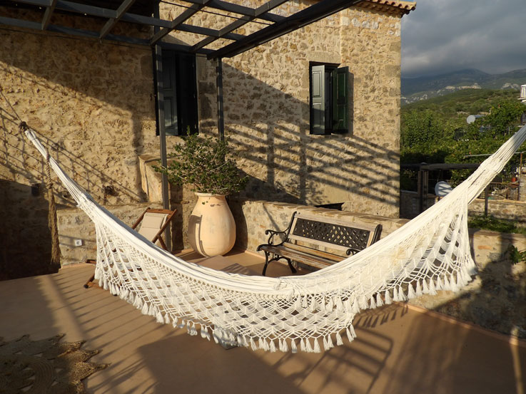 Time to relax on your private terrace at Villa Vager