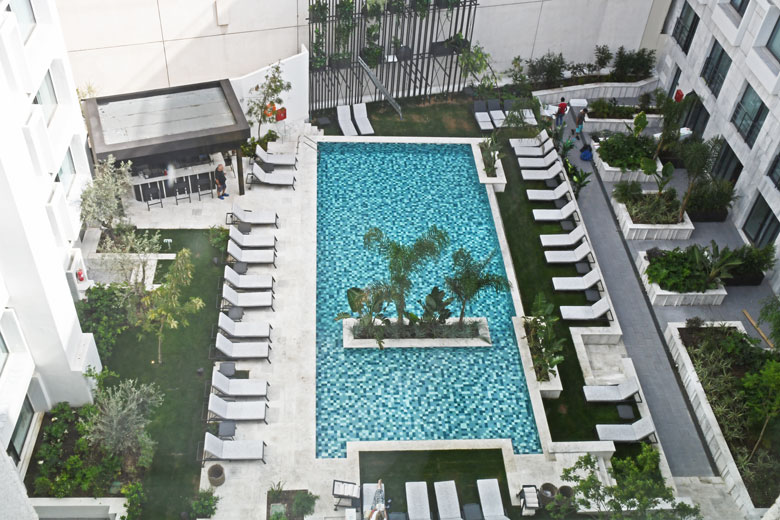 The second swimming pool in the courtyard