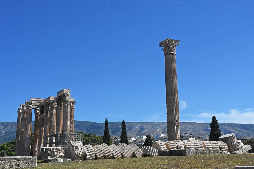 Majestic Temple of Olympian Zeus