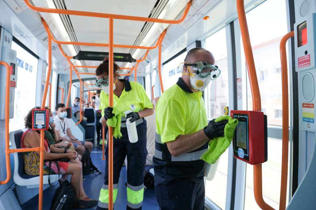 Continuous deep cleaning of public trams everyone is buying into Covid compliance