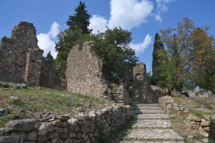 Climbing the streets of Mystra the ghost Byzantine city