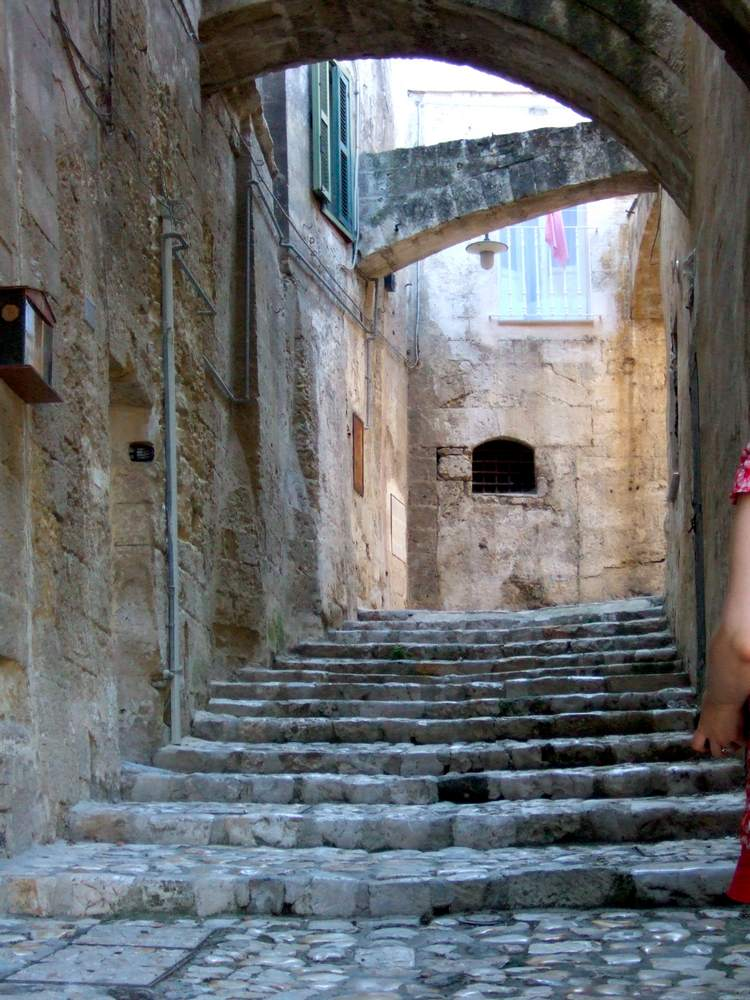 Lose yourself in the complex streets in Matera