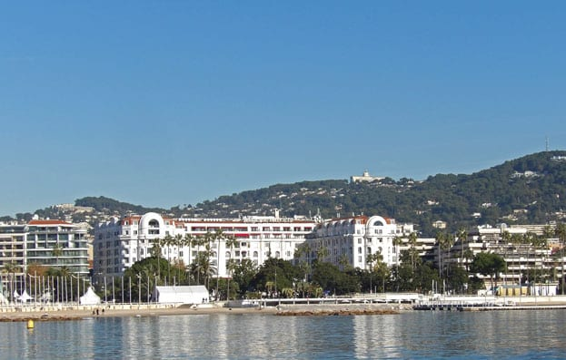 The Croisette and its luxury sea front hotels