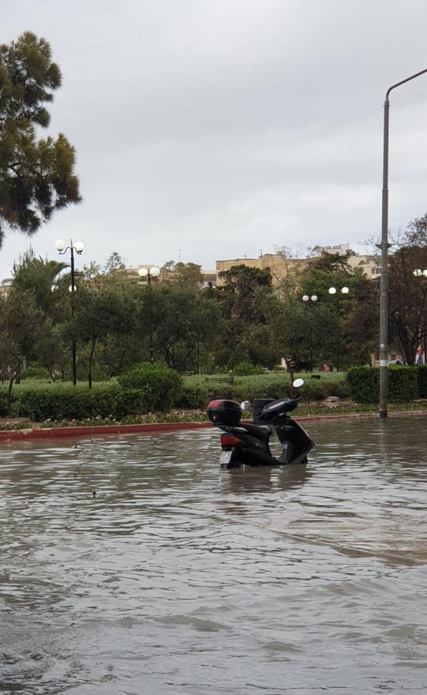 MalDia A newly sprung river in Malta Malta has no rivers nope a rain flooded road heralds Spring