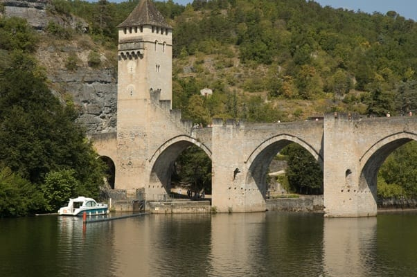 Cruising near Valentré Bridge in Cahors