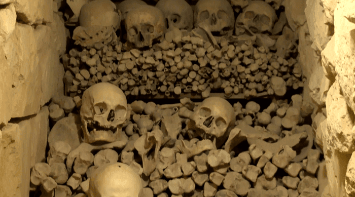 MalDia Skulls and bones found in the secret passages
