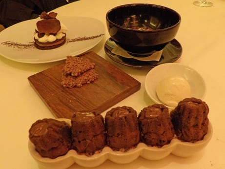 Here desserts are a real treat