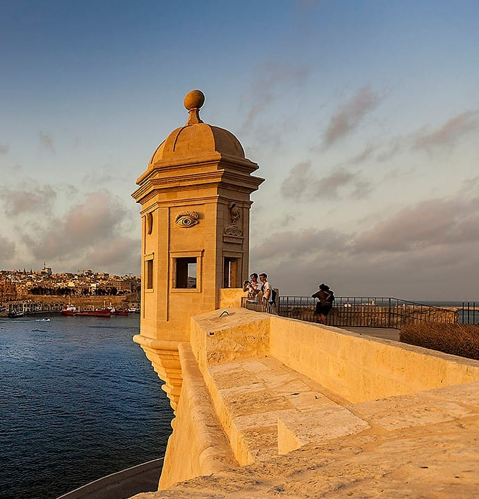 MalDia The Senglea bastions look out point these would have an eye and an ear carved on them