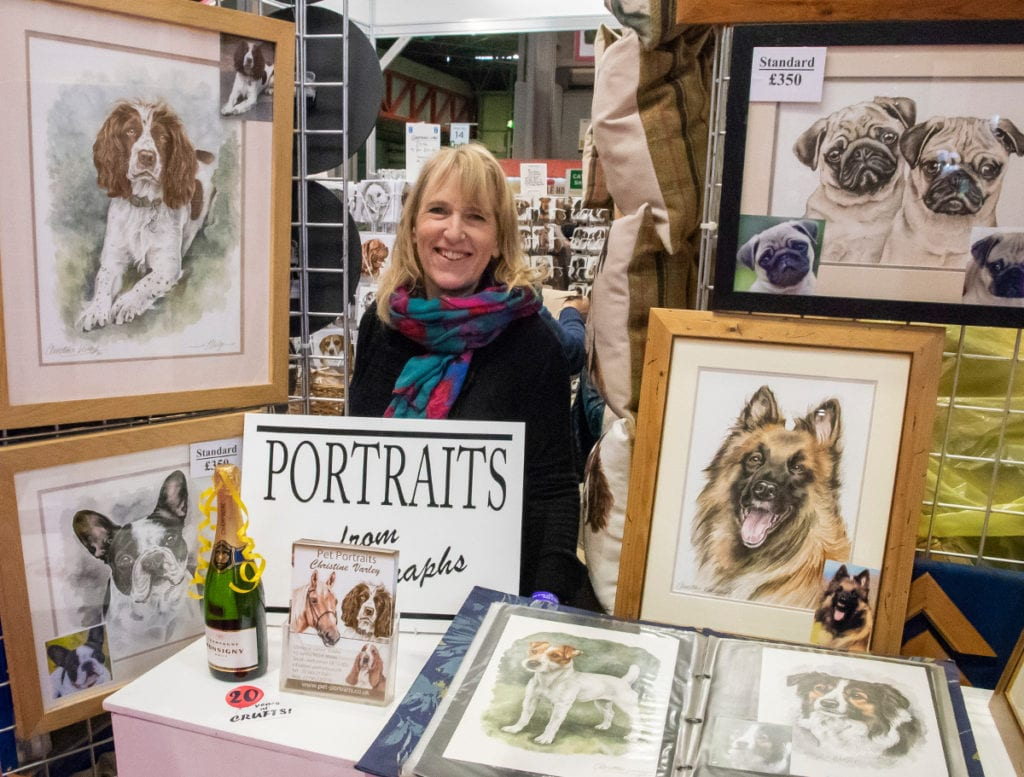 Pic Christine Varley celebrating years at Crufts