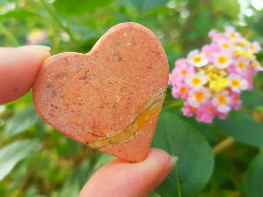 Pic A marble heart for visitors to Stratford Butterfly Farm today th May