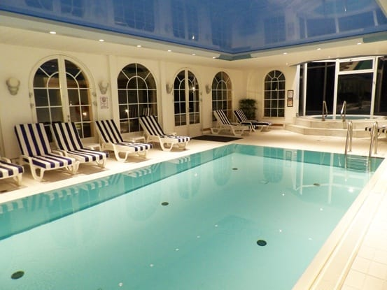 Indoor swimming pool at Chateau dIsembourg