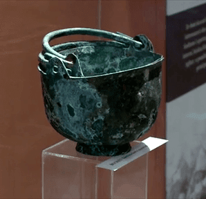 MalDia Two bronze buckets excavated from the old tower