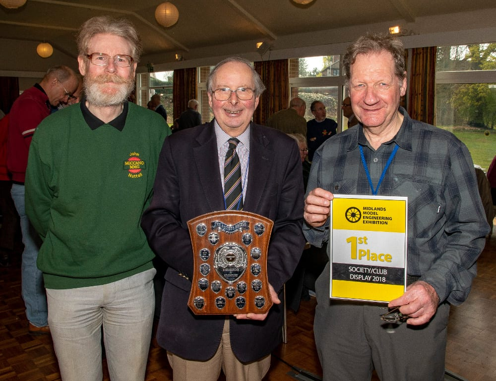Pic MMG officials John Nuttall George Illingworth and Roger Marriott