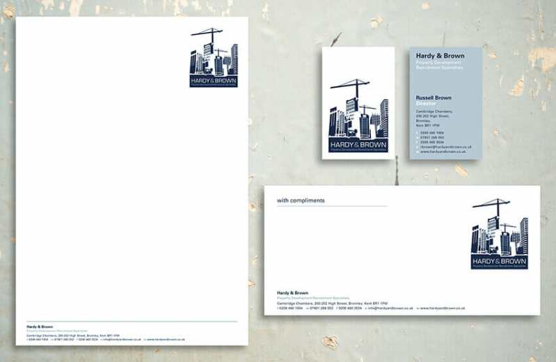 Hardy and Brown business stationery.