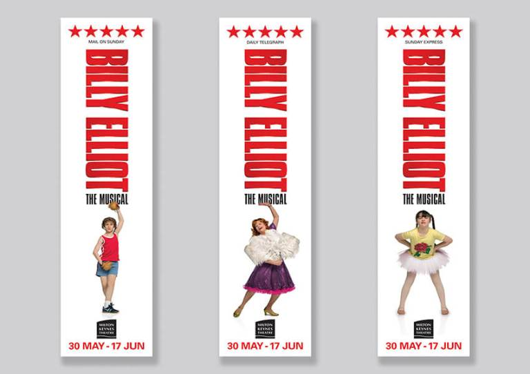 Billy Elliot lampost banners