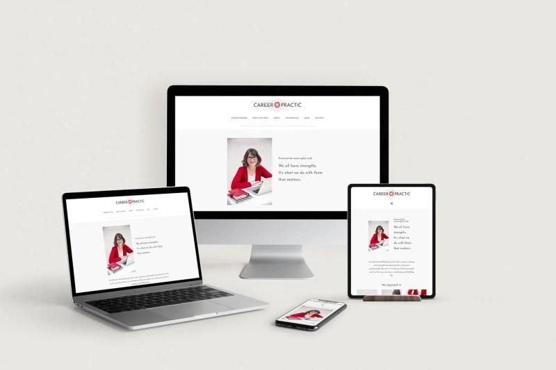 Career Practic responsive website