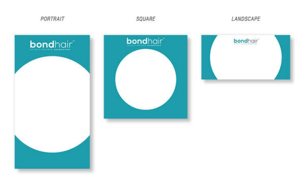 Bond Hair bespoke social media templates set.