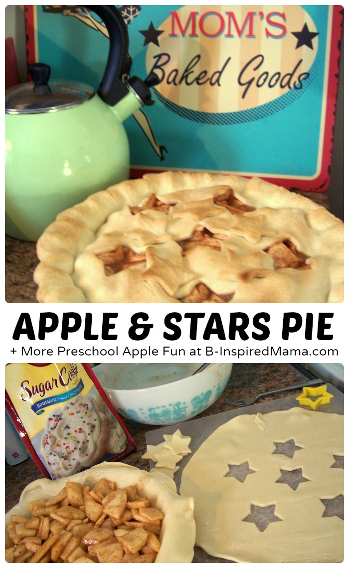 Baking Apple and Stars Pie + More Easy Preschool Apple Fun at B-Inspired Mama