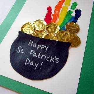 Kids' St. Patrick's Day Rainbow Handprint Craft