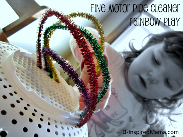 Pipe Cleaner Rainbow Play at B-InspiredMama.com